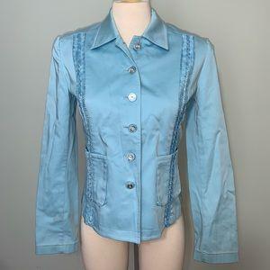 St. John Sport baby blue button up jacket